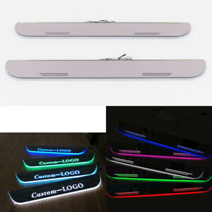 Customized Led Animation Door Sill Scuff Plate Courtesy Light For Dodge Ram All