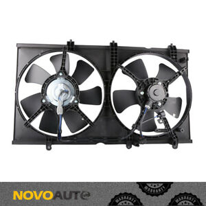 A Dual Condenser Radiator Cooling Fan W Motor For 2003 04 07 Mitsubishi Lancer
