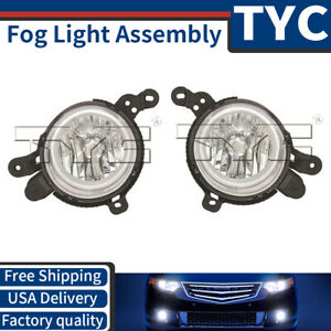 Tyc 2x Left Right Fog Light Lamp Assembly Replacement For 2014 2015 Kia Soul