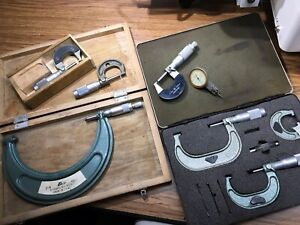 Lot Of Assorted Outside Micrometers
