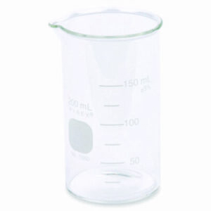 Pyrex 1060 200 200ml Beaker Tall Form Boro 3 3 Glass Graduated case 48