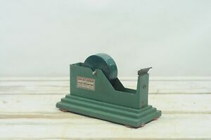 Vintage Cast Iron Scotch Tape Dispenser Art Deco Industrial Minnesota Mining