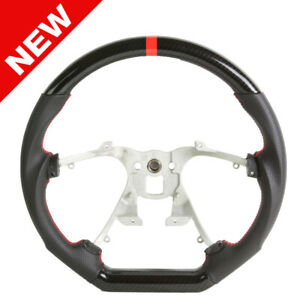 Handkraftd 07 13 Chevrolet Silverado Suburban Steering Wheel Carbon W red