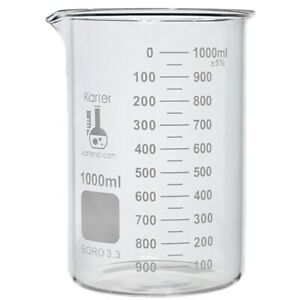 1000ml Beaker Griffin Low Form Boro 3 3 Glass Graduated case 24