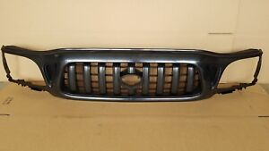 For New 2001 2004 Toyota Tacoma 2wd Front Bumper Radiator Grille Matte Black