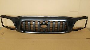 New 2001 2004 Toyota Tacoma 2wd Front Bumper Radiator Grille Matte Black
