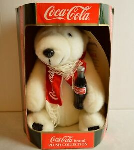 Coca Cola Brand Plush Collection - Holiday 1994 Polar Bear - w/Cert of Auth
