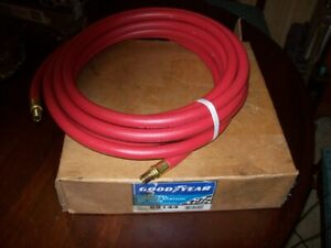 Goodyear Rubber Air Hose 3 8in X 25ft Red Flexsteel Coupled Nos Never Used
