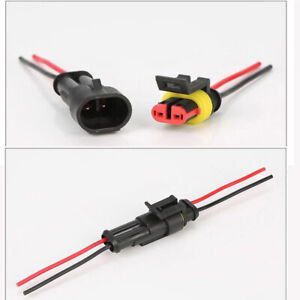 Pairs 2 pin Car Truck Waterproof Male Female Way Electrical Connector Plug Wire