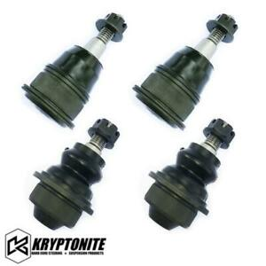 Kryptonite Upper Lower Ball Joint Package Stock Control Arms 01 10 Chevy gmc 6 6