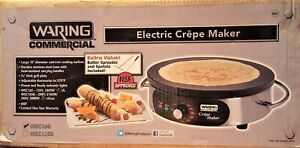 New In A Box Waring Wsc160 Heavy duty Commercial Electric Crepe Maker 16 inch