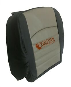2009 2013 Dodge Ram Passenger Bottom Vinyl Replacement Seat Cover 2 Tone Gray
