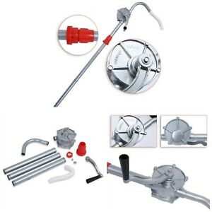 Rotary Barrel Pump 70rpm Manual Hand Crank Oil Transfers For Fuel Diesel Petrol