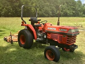 Kubota L2350 2x4 23hp Compact Tractor W 6ft Woods Re built Mower Only 1666 Hrs
