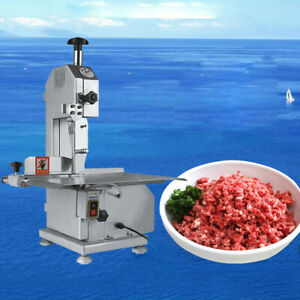 Electric Commercial 650w Electric Butcher Frozen Meat Bone Cutting Band Saw 110v