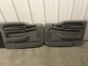 99 07 Ford F250 F350 Pickup Or Excursion Left Right Grey Power Door Panel Set