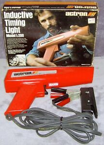 Vintage 1983 Actron Inductive Timing Light Model L 200 Mint In Box Usa
