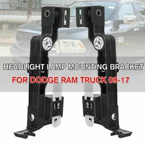For Dodge Ram Truck 2009 2017 L R Mounting Bracket Headlight Holder Accessories