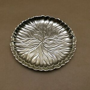 Vintage Tarnish Resistant Silverplate Trinket Candy Dish Bowl Made In Japan