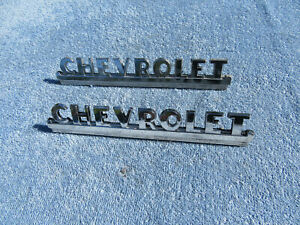 1947 1948 1949 1950 1951 1952 1953 Chevy Pickup Truck Side Hood Badges Emblems