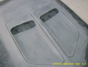 1970 Dodge Coronet Super Bee Bulge Hood Insert Scoops