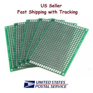 5 Pcs 5x7 Cm Prototype Perf Pcb Double Sided Matrics Us Seller Fast Shipping