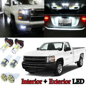 Led Exterior Package Kit Map License Bulb Xenon White 8pc For Silverado Sierra R