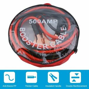12ft Car Truck Booster Jumper Battery Charging Cable 4 Gauge 500 Amp Jump Power