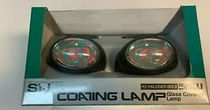 Red Lenses Jdm Universal Halogen Sport Driving fog Lights Mhl 820red