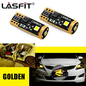 Lasfit Golden Yellow 194 168 2825 Led Side Marker Parking Light Bulbs Error Free