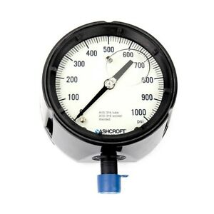 Ashcroft 4 1 2 Pressure Gauge 1000 Psi Glycerin Filled 45 1279 ssl 04l 1000
