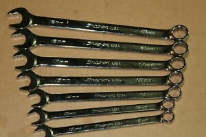 Snap On Soexm Wrench 7pc Set 12mm 19mm Missing 15 Metric