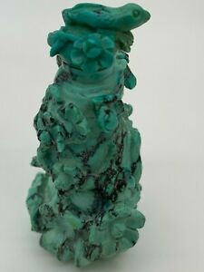 Chinese Turquoise Engraving Snuff Bottle