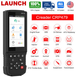 Car Engine Diagnostic Tool Airbag Abs Auto Obd Scanner Launch X431 V Crp479
