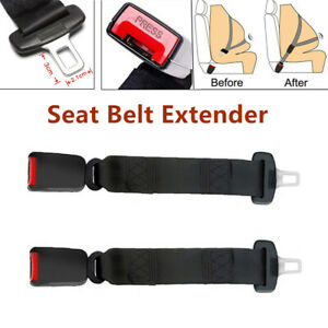 2pcs Car Seat Belt Extender 36cm Safety Extension Buckle For Car Van Suv Truck