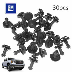 30pcs Air Dam Deflector Valance Front Bumper Clips For Gm 1092167 15733971 Chevy