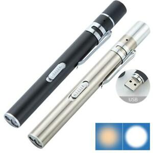 Medical Pen Light Usb Rechargeable Mini Energy saving Flashlight Led Torch Sala