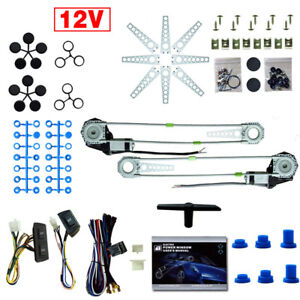 Universal Fit 2 Doors Vehicle Electric Power Window Conversion Kits 12v Switches