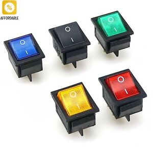 Switch On off 2 Position 4 Pins 6 Pins Electrical Equipment With Light Power