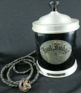 Vintage Soda Fountain Hot Fudge Dispenser W insert by Lacy Products Works