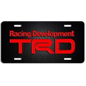 Trd Auto Vehicle Aluminum License Plate Car Truck Suv Red Tag