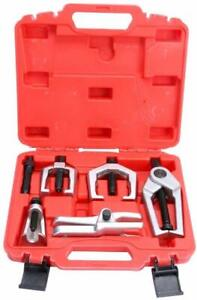 6pcs Front End Service Tool Kit Ball Joint Tie Rod Pitman Arm Puller Remover Us