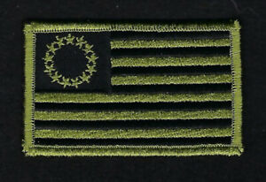 BETSY ROSS 1776 TACTICAL OD GREEN FLAG HAT PATCH IRON ON US FLAG USA PATRIOT $9.88