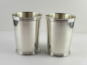 Lunt 3759 Sterling Silver Mint Julep Cups 3 3 4 Set Of 2 No Monogram
