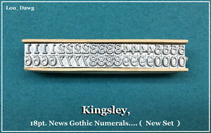 Kingsley Machine Type 18pt News Gothic Numerals Hot Foil Stamping Machine