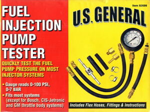 Fuel Injection Pump Tester U S General 92699 New Sealed