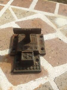Primitive Victorian Gothic Cabinet Hutch Slide Door Lock