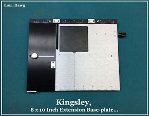 Kingsley Machine 8 X 10 Inch Extension Base plate Hot Foil Stamping Machine
