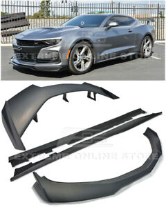 For 19 up Camaro All Zl1 1le Style Front Splitter Lip Side Skirts Rear Spolier