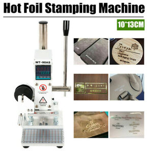 Hot Foil Stamping Machine Digital Embossing Leather Pvc Bronzing Printing 300w
